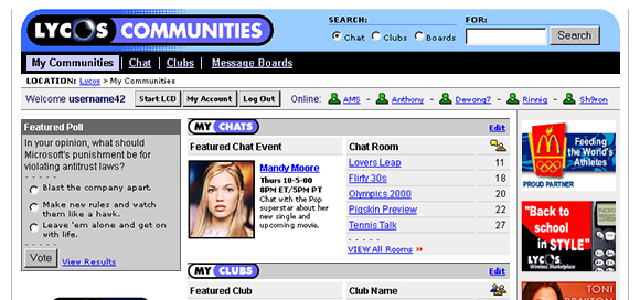Free lycos chat room please